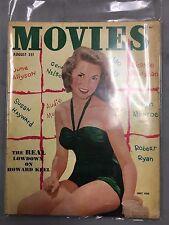 MOVIES MAGAZINE AUGUST 1952 SUSAN HAYWARD JUNE ALLYSON MARILYN MONROE HOWARD KEE