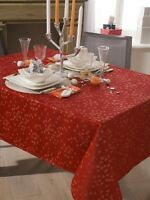 Nappe en tissu Dove rouge rectangle 150x250cm