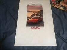 1989 Honda Acura Integra and Legend USA Market Color Brochure Catalog Prospekt