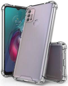 AquaFlex Transparent Anti-Shock Clear Phone Case Slim Cover for Moto G30 G10