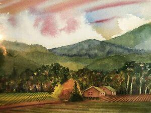 Vtg Jessel Miller Mumm Napa Valley Vineyard Gallery Wall Art Print 10x8  Sealed