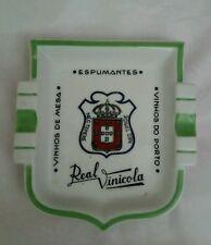 Vintage Rare EMPREZA ELECTRA CERAMICA Ashtray Shield Shape Vinhos de Mesa Porto
