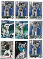 Evan White Mariners 2017 Rookie Lot (9) w/ Bowmans Best Refractor & 1st Bowman B