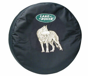 Genuine Wolf Design Vinyl Spare Tire Cover LRN50235 for Land Rover