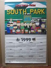 Vintage 1998 South Park original calendar poster cartoon Comedy Central 12773