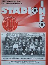 Programm 1998/99 VfB Lichterfelde - FC Eintracht Schwerin