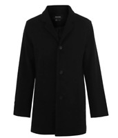 FIRETRAP RAN PEACOAT MENS Black Size UK M *REF106