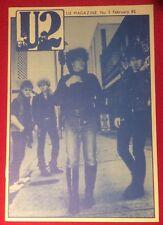 U2 NUMBER TWO Magazine Pre-Propaganda February 82 Genuine Official Promo