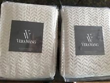 Vera Wang ROSES Stone European Shams- TWO - Brand New in package Linen
