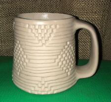 Unique Hand Crafted Pottery Clay Mug Earthy Southwest Aztec Tribal Native Rustic