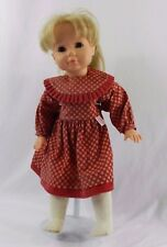 Gotz Puppe 18 inch Doll Blonde Hair Brown Sleepy Eyes Hg