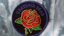 Grateful Dead Red Rose 3 Inch Iron On Patch