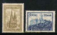 EBS Germany 1923 - Wartburg Castle and Cologne Cathedral - Michel 261-262 MNH**