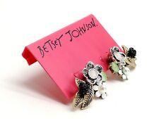 Betsey Johnson Earrings Flower Cluster Stud Earrings Two Tone New! NWT
