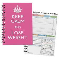 food diary slimming diet weight watchers/ tracker journal note book log /NWW5