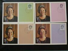Queen Beatrix set of 4 maximum card Netherlands 71984