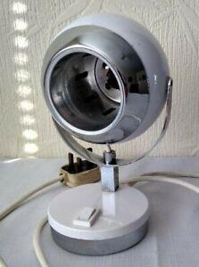 Vintage / Retro 1970s / 1980s Space Age Eye Ball Lamp White Bedside Light