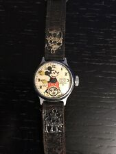 1930s Ingersoll Mickey Mouse Watch Band With Charms Works NR