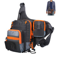 Portable Fishing Tackle Bag Reel Lure Pack Saltwater/Freshwater Waist Storage