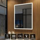 LED Badspiegel 60x80 cm mit Touch Beschlagfrei Wandspiegel mit Beleuchtung Licht