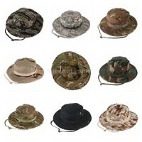 Tactical Ripstop Combat Caps Wide Brim Bucket Hat Camouflage Military Boonie Hat