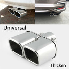 "2.5"" Chorme Stainless Steel Double hole Exhaust Tail Muffler Pipe Modification"