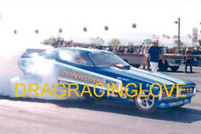 "Roland Leong ""Hawaiian"" 1972 Dodge Charger NITRO Funny Car BIG Burnout PHOTO!"