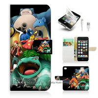( For iPhone 5 / 5S / SE ) Wallet Case Cover! Pokemon Picachu P0253