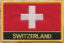 Switzerland Flag Embroidered Patch Badge - Sew or Iron on