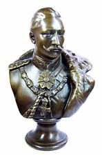 KÜNSTLER Bronze Büste KAISER WILHELM II. PREUSSEN, signiert