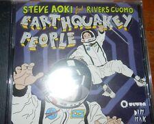 Steve Aoki Earthquarkey People Rivers Cuomo CD! New! Rare!