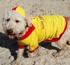 Surf Rescue Lifesaver Dog shirt with cap med 45cm cotton mix with collar - New