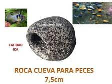 ROCA CUEVA DECORATIVA 7,5cm ACUARIO o TERRARIO  decoracion resina peces ciclidos