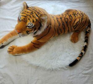 """Melissa & Doug Large Bengal Tiger Plush Stuffed Animal Toy Giant 64"""" Lifelike"""
