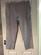 David Emanuel Blue/grey Lace Trousers Size 18 Vgc