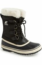 Sorel Winter Carnival Snow Boots 8.5 8 ? Black White New NWOB NWT WATERPROOF FUR