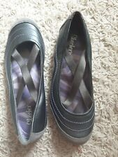 Skechers Sketchers Trainer Shoes UK 5 Criss Cross Elastic Strap Leather Gry Mint