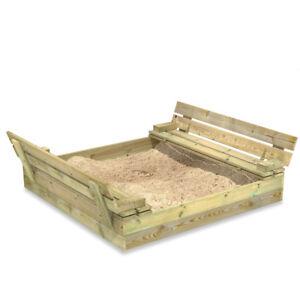 Sandkasten Sandbox Sandkiste mit Klappdeckel - WICKEY Flip 110x125 cm