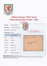 BILLY Reed Galles International 1954-1956 Originale Firmato a Mano Taglio/Card