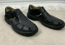 Timberland Altamont Fisherman Black Men's Leather Sandals 79059 Sz 13 Smart