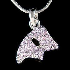 w Swarovski Crystal Purple Phantom of the Opera Masquerade Mask Necklace Jewelry