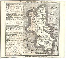 Antique map, Buckinghamshire .