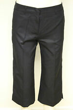 French Connection FCUK women black straight leg cropped trouser size 8-14 4422F