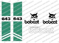BOBCAT 643 SKID STEER DECAL STICKER SET