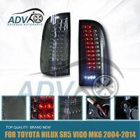 Smoked LED Tail Lights Fit Toyota Hilux Vigo SR5 SR6 MK6 Pickup Ute 2004-2014
