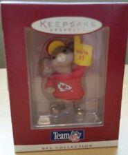 1996 Kansas City Chiefs Hallmark Keepsake Ornament Mouse #1 NFL Team Christmas
