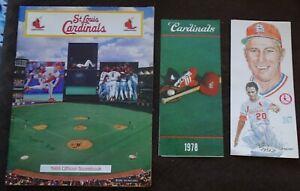 St Louis Cardinals 1977 & 1978 Sked Roster Booklets & 1988 Scorebook vs. Astros