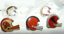 Vintage NFL - Bucs Redskins Giants Browns Helmet Pins - Lot 5 Pins Football NEW