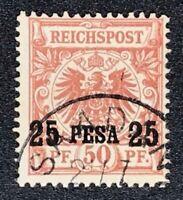 Deutschland Deutsche Kolonien Deutsch-Ostafrika  5 II a gestempelt geprüft