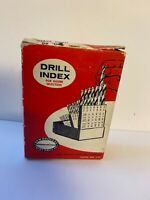 Vintage Drill Bits (Quantity 60 Unused) And Metal Index Case; NOS Unused, 1960's